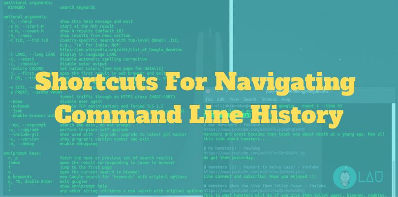 shortcuts for navigating command line history