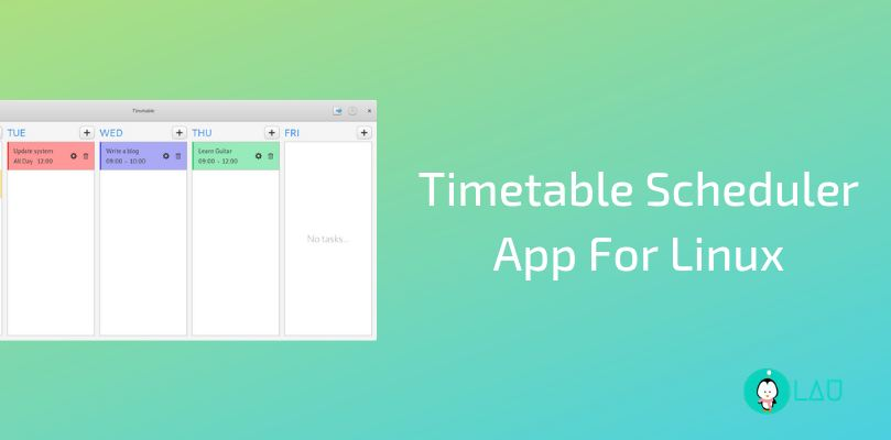 Timetable Scheduler App For Linux