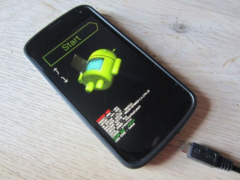 android fastboot menu