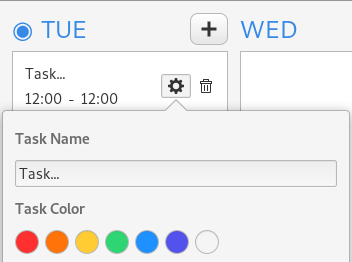 colorize task timetable app