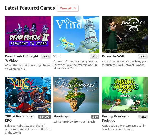 download latest indie games itch website