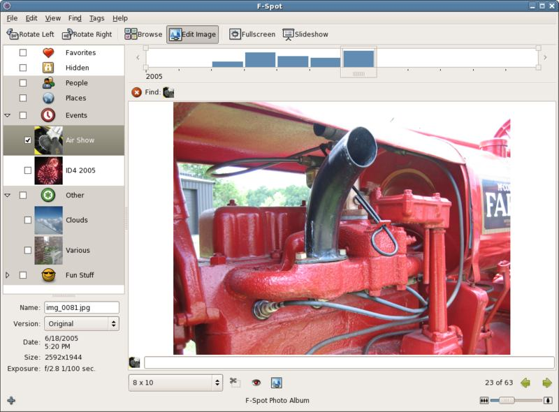 f-spot photo editor for linux