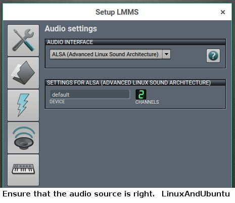 lmms graphical interface