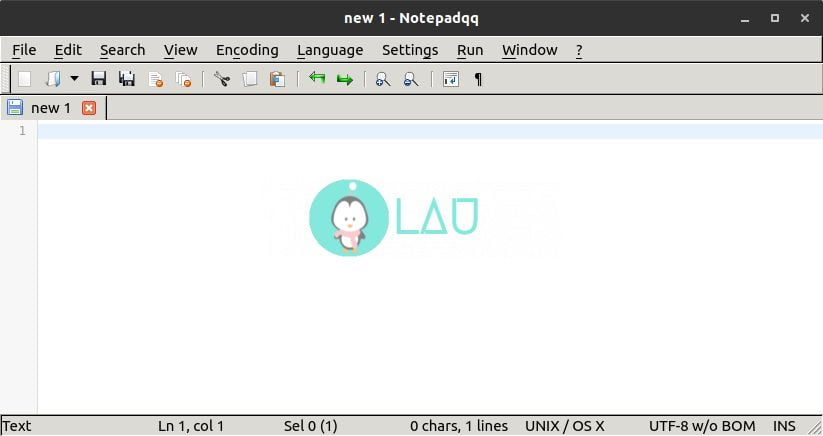 notepadqq user interface