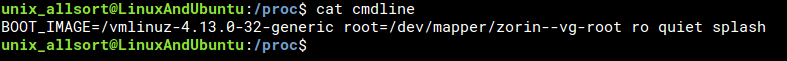 cat cmdline command