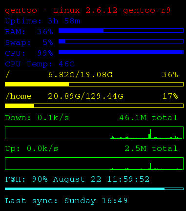 conky task manager for linux