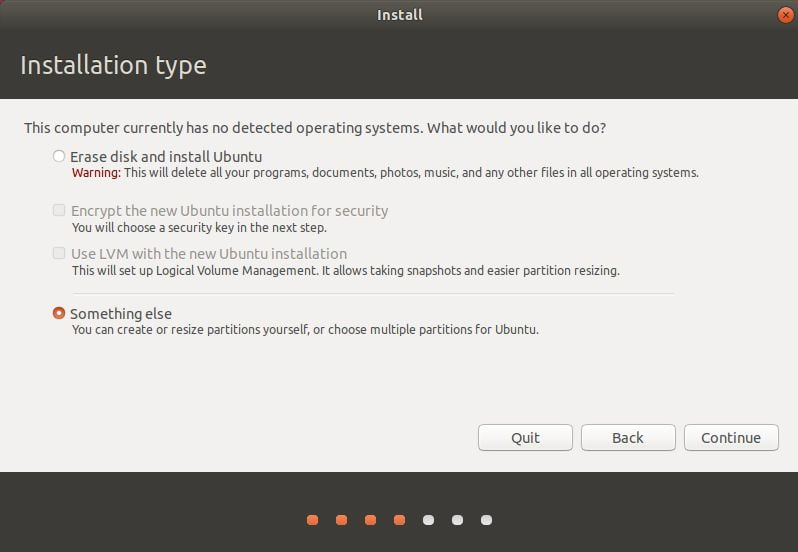 custom partition hd install ubuntu
