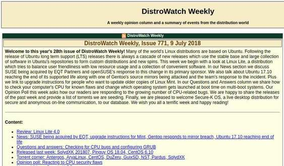 distrowatch weekly