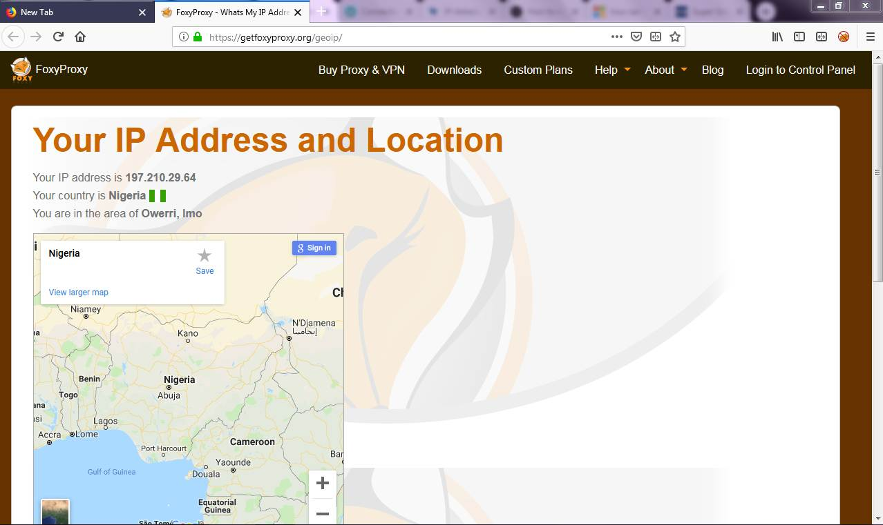 find ip address and location