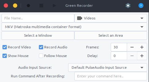 green recording linux tool