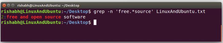 grep linux command