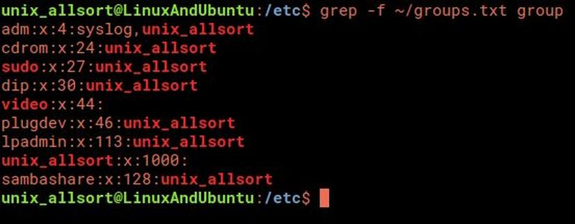 grep multiple patterns