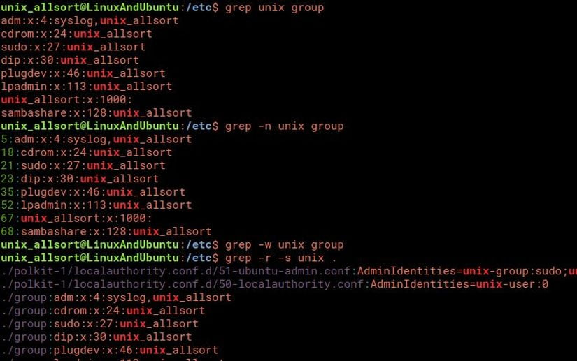 how to use grep