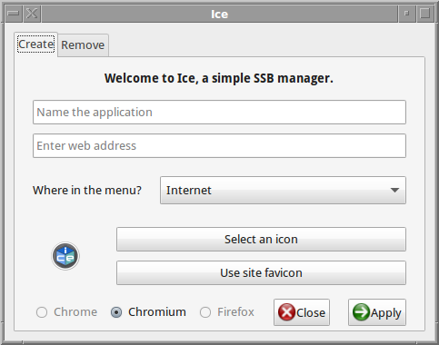 ice app for making web application