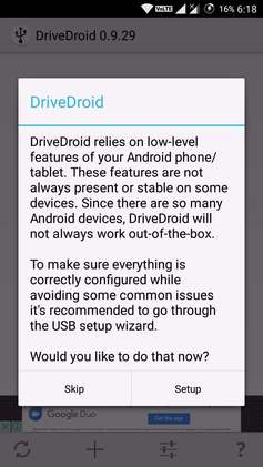 install drivedroid in android from play store