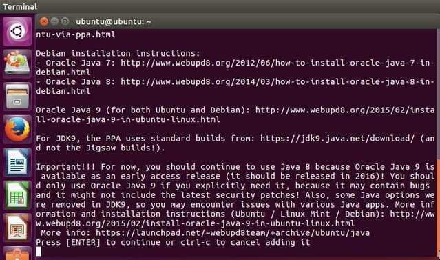 install java in ubuntu 16.04