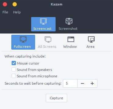kazam screencasting tool for linux