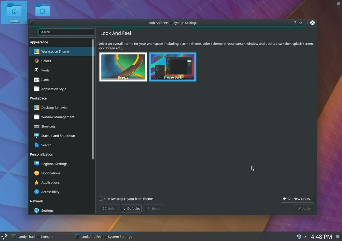 kde plasma dark theme