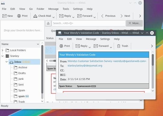 kmail email client for linux