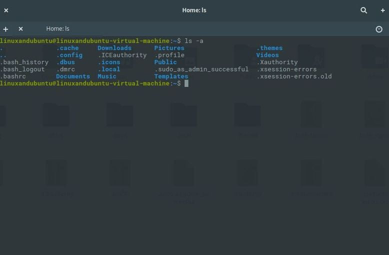 list files in terminal
