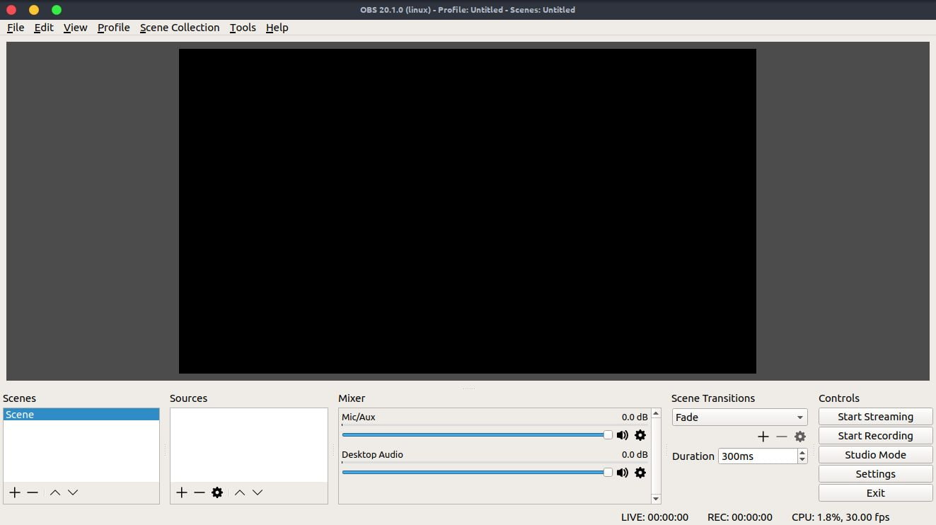 obs linux screencasting tool