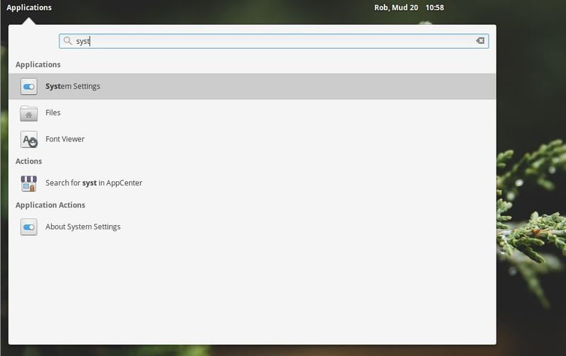 open system settings in elementary os