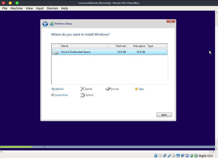 partition for windows 10