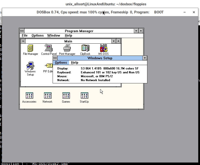 Running Windows 3 x - DOSBox Part 4 - LinuxAndUbuntu