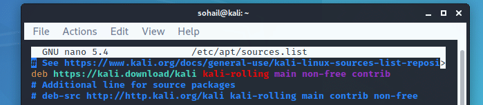 Update Kali Linux repository