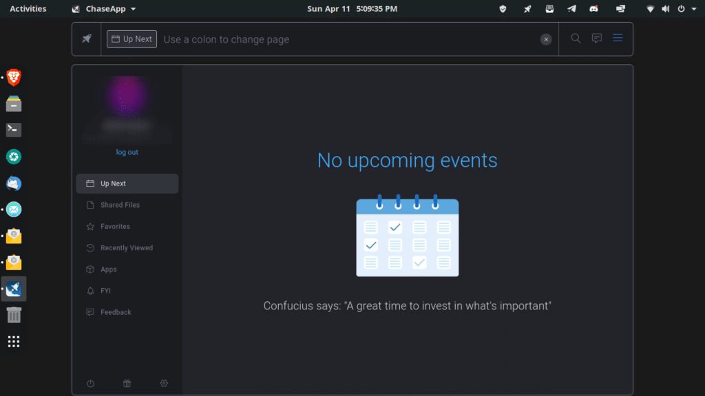 ChaseApp Events manager
