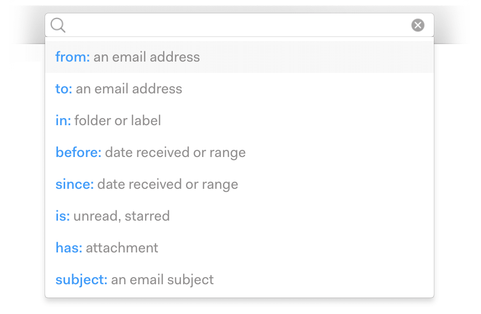 mailspring search